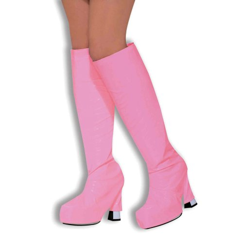 60's Pink Go Go Boot Tops - Fancy Dress 70s Covers Go Accessory Girl 60s Shoe -  go boot fancy dress tops pink 70s covers gogo accessory girl 60s