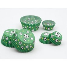 Football Cake Cups Large 75's
