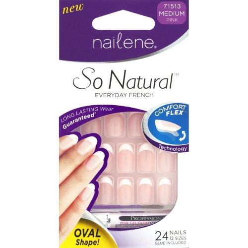 Nailene So Natural Nails Ovals Pink