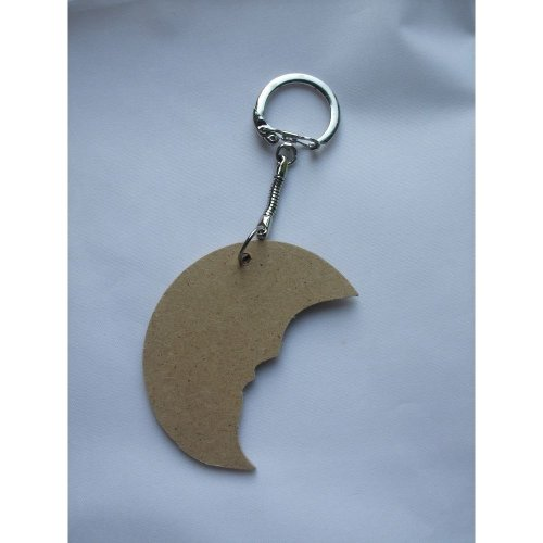 MDF Wooden Keyring For Decoration - Moon Shaped