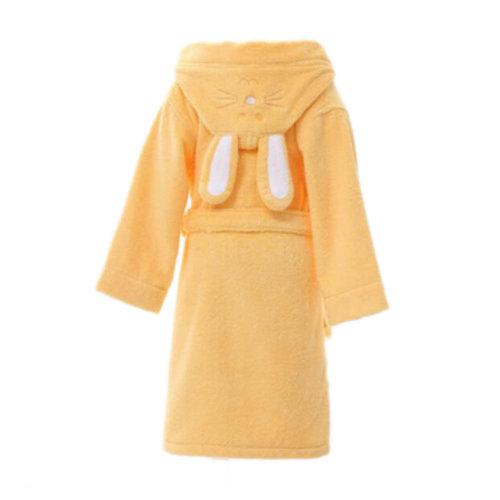 Children Cotton Bathrobe Soft Swim Bath Gown Robes Pajamas with Hat-A04