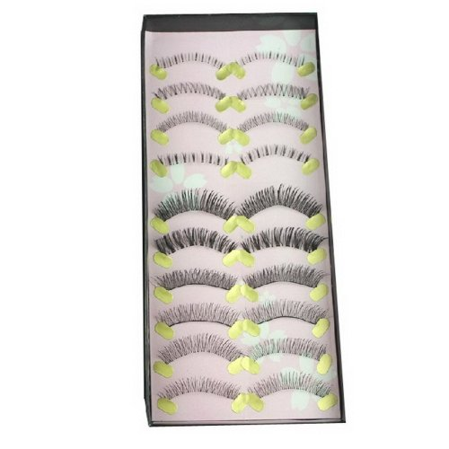 Professional Make Up False Eye lash Mixed Fake Eyelashes 10 Pairs