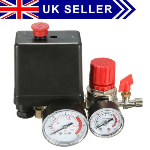 Pressure Switch Air Valve Manifold Compressor Control Regulator Gauges UK