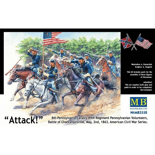 Mas3550 - Masterbox 1:35 - Us Civil War Series: the Attack of the 8th