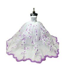 High-end Handmade Wedding Costume Luxurious Party Gown Dresses Princess Clothes for Dolls, O