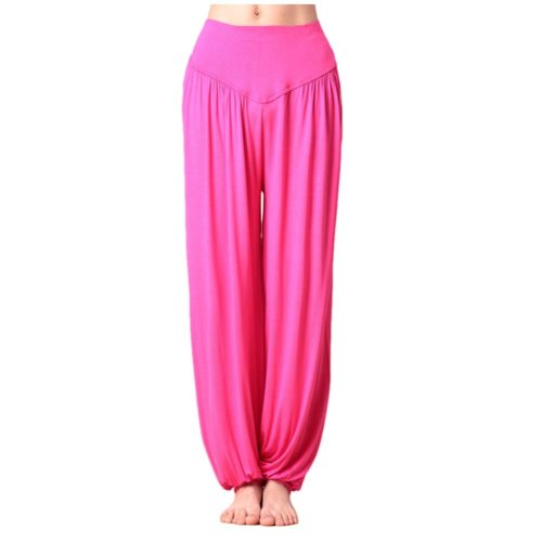 Solid Modal Cotton Soft Yoga Sports Dance Fitness Trousers Harem Pants, E