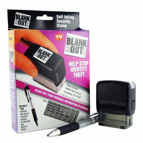 HANDY ERASE IT SECURITY ID PROTECTOR IDENTITY THEFT PROTECTION STAMP