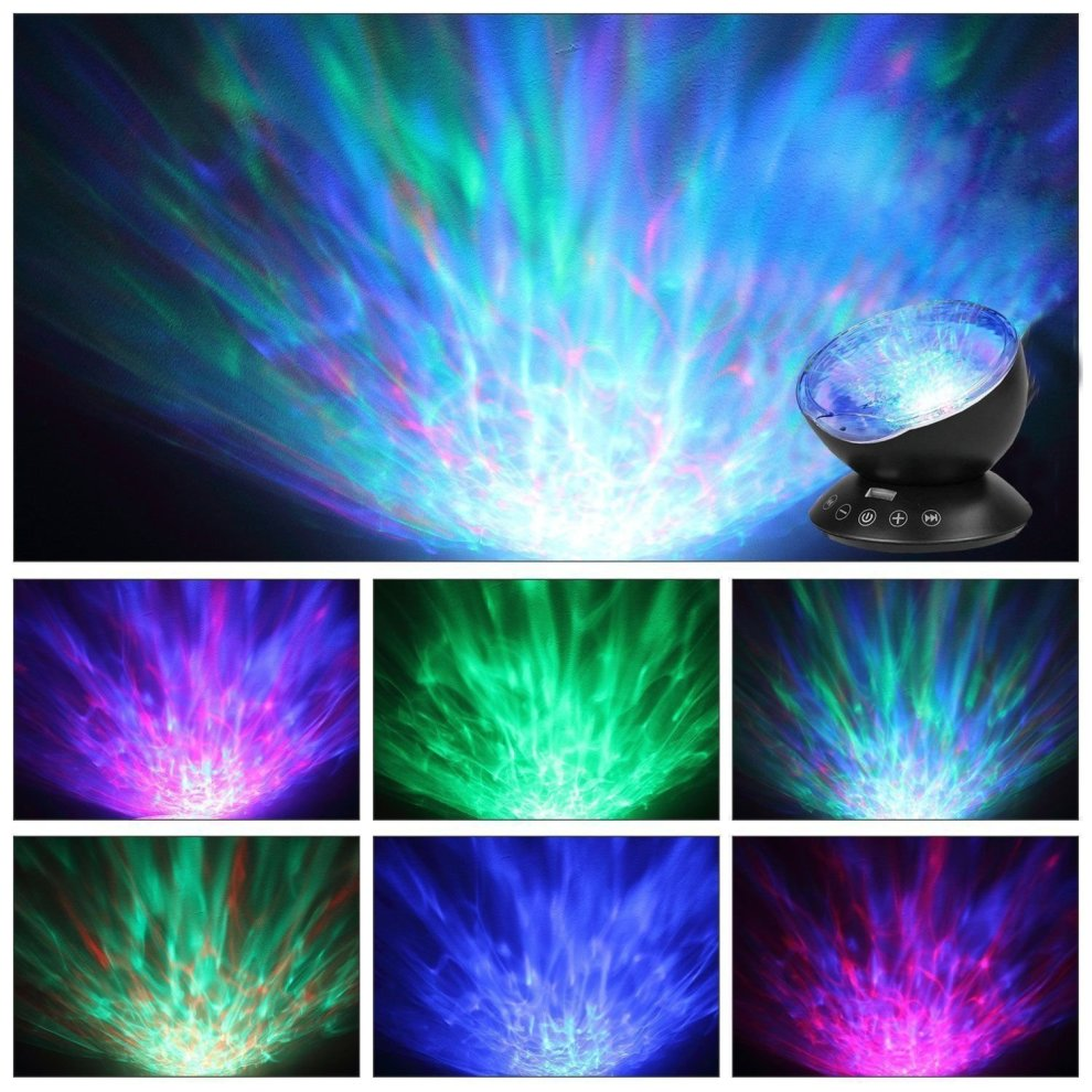 Access Control Kits Loyal Remote Control Multicolor Ocean Wave Projector Nightlight Baby Lamp With Mini Music Player Fit For Any Holiday Party Decorations