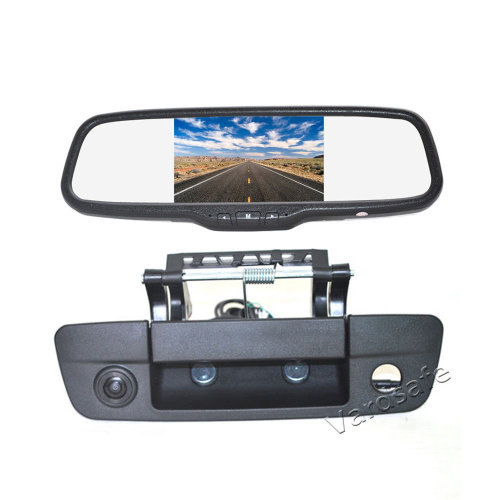 Vardsafe Tailgate Reverse Backup Camera + Clip-on Mirror Monitor for Dodge Ram Pickup Truck 1500 2500 3500 (2009-2018)