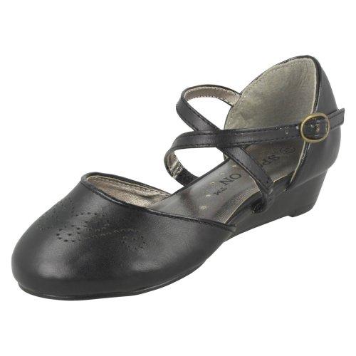 Girls Spot On Wedge Heeled Formal Shoe
