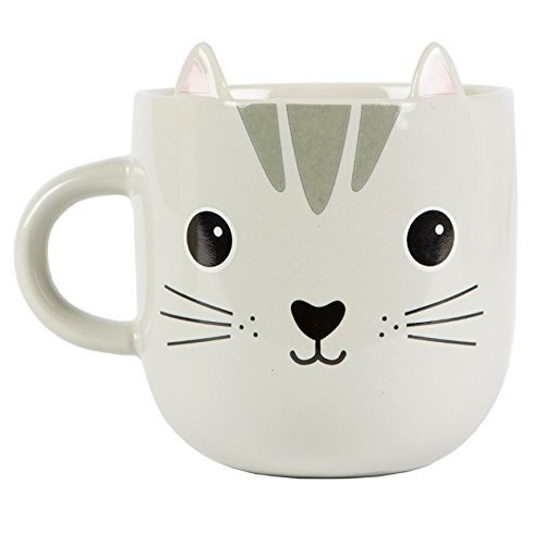 Sass & Belle – White Cat Mug