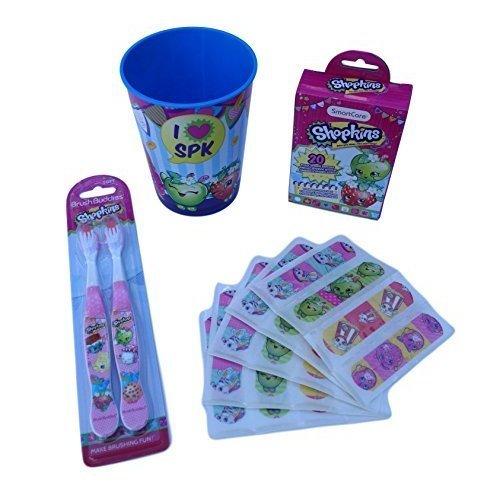 Shopkins Toothbrush & Bandage Oral Care Bundle