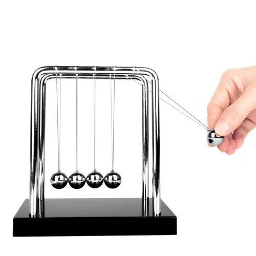 Glantop DT Upgrades Newton's Cradle Art in Motion with Metal Balance Ball