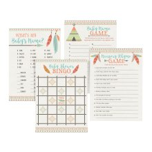 Lillian Rose Set of 4 Tribal Baby Shower Games