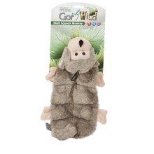 Gor Pets Dog Toy, Wild Multi-Squeak Monkey 30cm