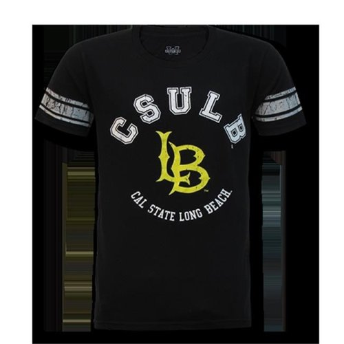 W Republic Mens Football Tee CSLB, Black - Extra Large
