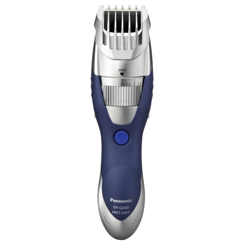 Panasonic Wet/Dry Washable Beard Trimmer - Silver/blue (ERGB40S)