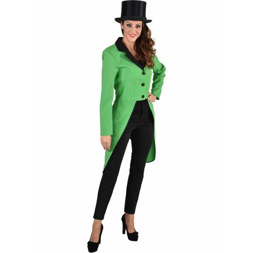 Ladies Green Tailcoat Jacket - Irish / St Patrick
