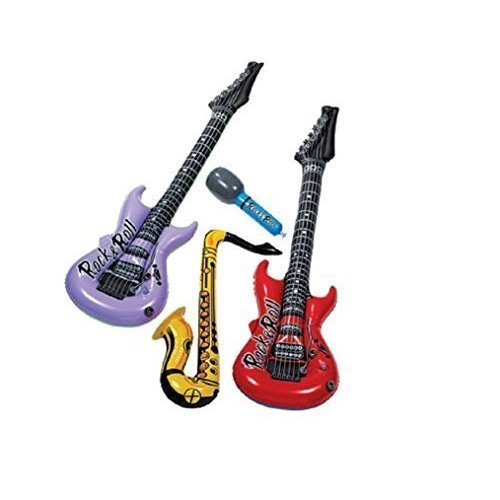 Amscan Inflatable Musical Instruments 4Pc