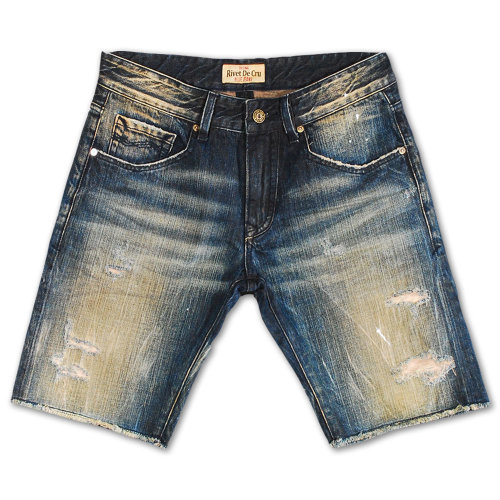 Rivet De Cru Vapor Blue Denim Shorts