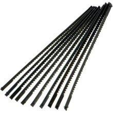 Silverline Scroll Saw Blades 130mm 10pk 14tpi -  saw blades scroll 130mm silverline 14tpi 10 10pk 793823