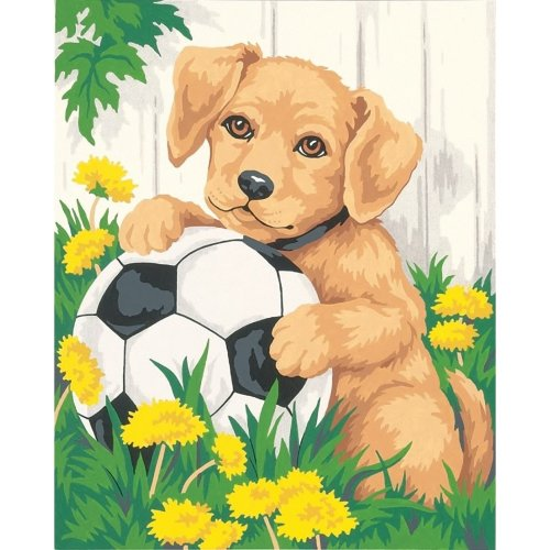 DPW91120 - Paintsworks Learn to Paint - Puppy & Soccer Ball
