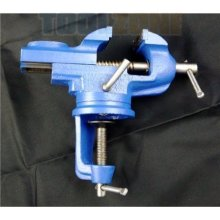 """Toolzone Professional 2"""" High Grade Swivel Table Vice -  2 swivel table vice professional high grade engineers clamp anvil toolzone inch base bench"""