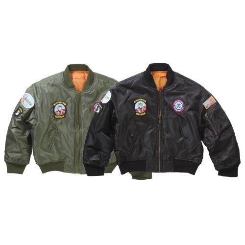 New Kids Airforce MA1 Flight Bomber Jacket Badges