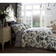 Richmond cream & black cotton blend duvet cover