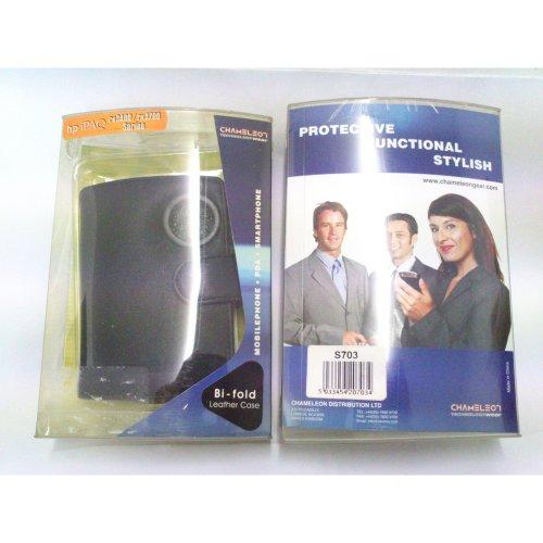 Chameleon S703 Bi-fold leather case - BLACK for RX3400/RX3700