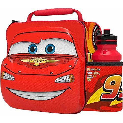 St365 - 3d Lunch Bag With Bottle - Cars - Disney New Box Gift Car Piston Cup 99 -  disney 3d lunch bag bottle new box gift car cars piston cup 99