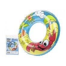 "18"" 7.2g Printed Beach Design Swim Ring - Float 18 Kids Inflatable Rubber -  float 18 kids inflatable rubber swim ring beach swimming crab pool chils"