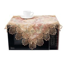 European Style Jacquard Microwave Oven Cover Dust-proof Cover, B