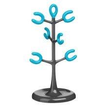 6 Cup Mug Tree - Grey/Blue