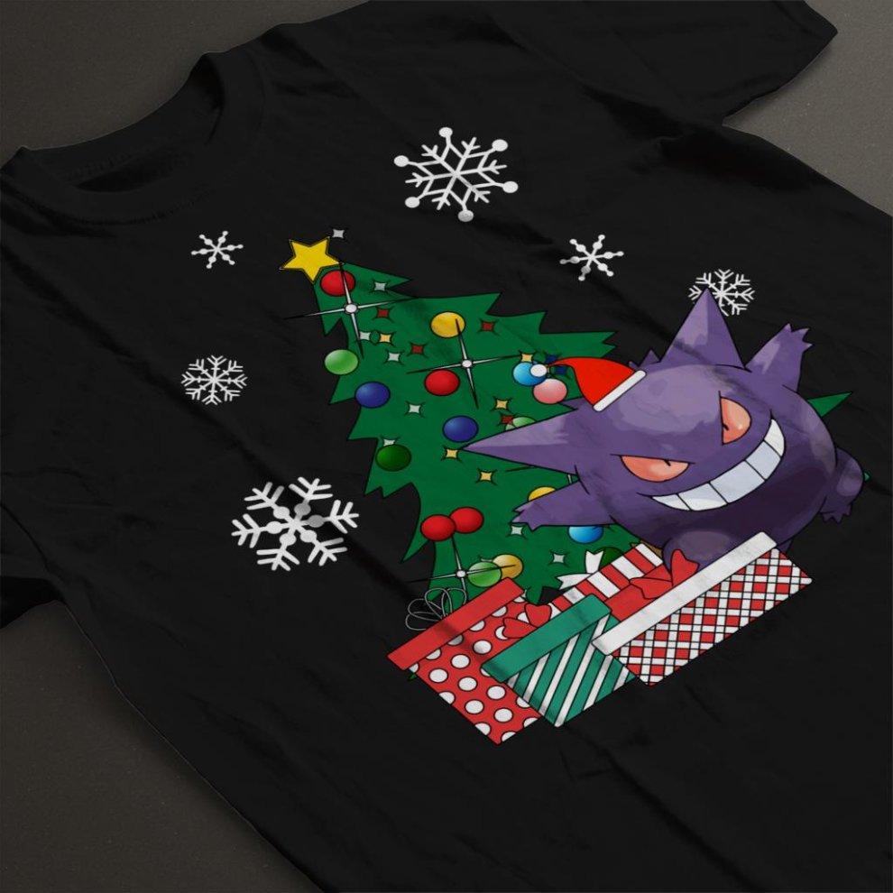 27236538b Large, Black) Gengar Around The Christmas Tree Men's T-Shirt on OnBuy