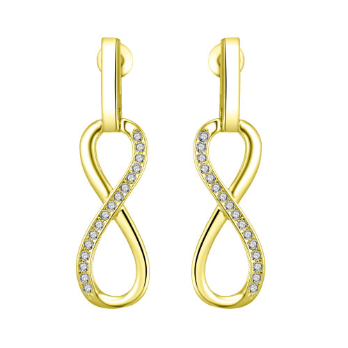 fce209301 Gold Plated Infinity Drop Earrings Created with Swarovski Crystals on OnBuy