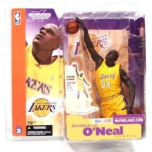 McFarlane Toys NBA Sports Picks Series 2 Shaquille ONeal (Los Angeles Lakers) Yellow Jersey Action Figure