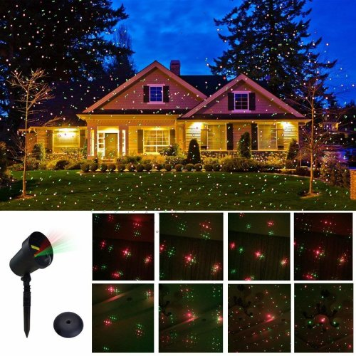 CERCHIO Outdoor Christmas Motion Lights Star Projector for Garden Christmas Decorations As Seen on TV, Xmas Holiday Lighting Landscape Projector...