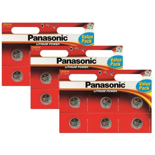 18 x Panasonic CR2016 3V Lithium Coin Cell Battery 2016