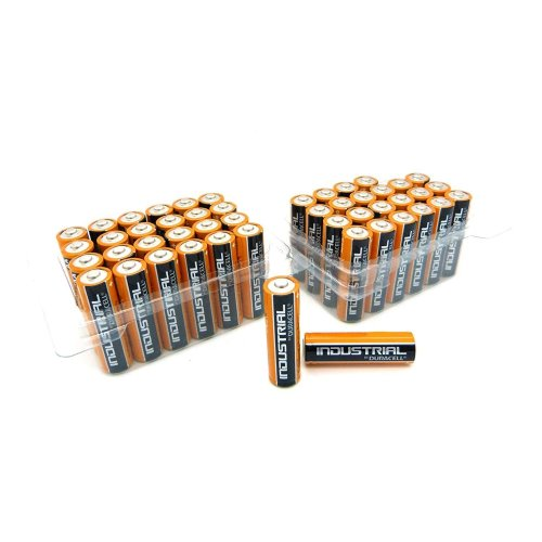 48 x Duracell AA Industrial Tub Battery MN1500 Alkaline Replaces Procell Long Expiry