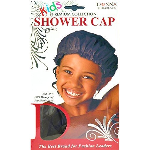 Donna Premium Collection Kids Shower Cap 11214 Black