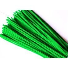 50 Green Pipe Cleaners 30xm x 6mm