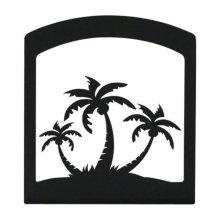 Village Wrought Iron NH-139 Triple Palm Tree Napkin Holder