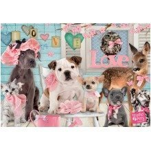 Jumbo Studio Pets True Love Jigsaw Puzzle (1000 Pieces)