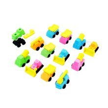 10 Pieces Of Fashion Cute Cartoon Erasers Engineering Vehicles Modeling