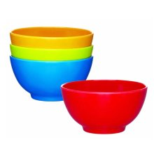 12.5cm Miniamo Brights Pack Of 4 Melamine Bowls