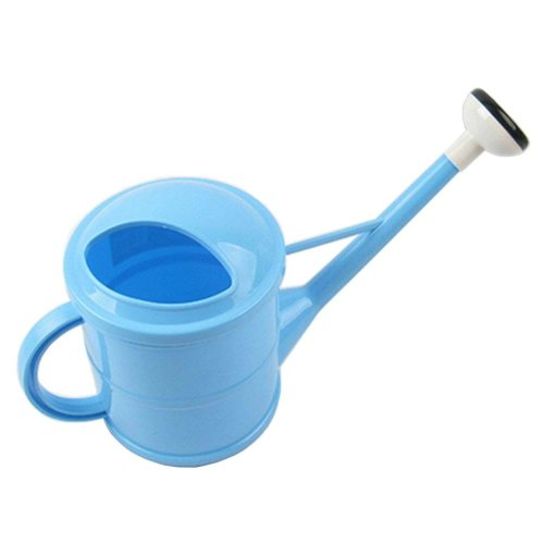 Useful Lovely Long Spout Watering Pot Watering Can Blue