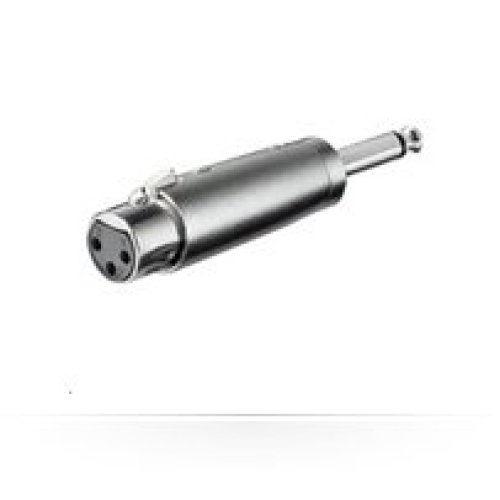 Microconnect XLRFJ 6.35mm XLR Silver cable interface/gender adapter