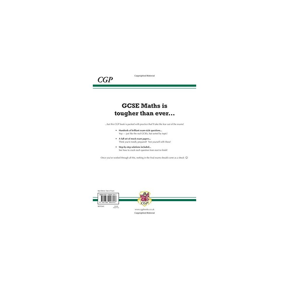 GCSE Maths OCR Exam Practice Workbook: Foundation - for the Grade 9-1  Course (includes Answers) (CGP GCSE Maths 9-1 Revision)