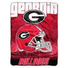 NCAA Georgia Bulldogs Overtime Micro Raschel Throw, 60 x 80